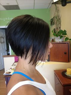 A-line bob...trying to get the stylists to do this to my hair while accommodating my curl....thanks for the pic, Jaym!