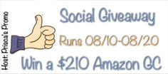 This just opened! It's the Social Giveaway for August. The grand prize for following authors on social media (Facebook, Twitter, etc) is a $210 Amazon gift card. Not bad ;-).   https://thedreambook.wordpress.com/2017/08/10/august-social-giveaway/