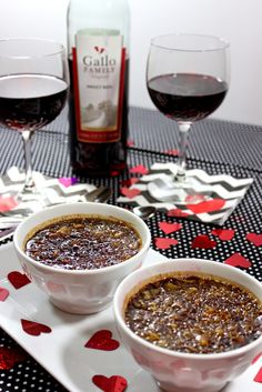 Kudos Kitchen By Renee: Chocolate Espresso Creme Brulée for #SundaySupper Valentine's Day Wine Pairing #GalloFamily