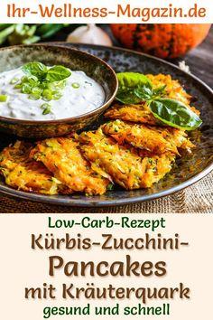 Pancake Healthy, Low Calorie Vegetables, Zucchini Pancakes, Low Carb Recipes, Healthy Recipes, Brunch, Low Carb Lunch, Healthy Pumpkin, Evening Meals