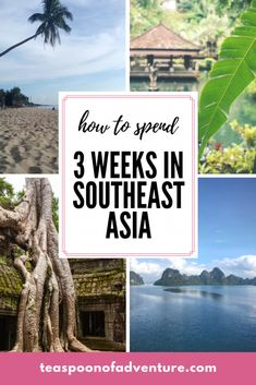 How to spend three weeks in Southeast Asia. Check out our itinerary for our upco… How to spend three weeks in Southeast Asia. Check out our itinerary for our upcoming trip! Vietnam, Bali, Grand Cayman, Thailand Travel, Asia Travel, Greece Travel, Travel Guides, Travel Tips, Travel Checklist