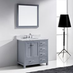 Urban Grey Brittany 36-inch Single Cabinet - 18461527 - Overstock.com Shopping - Great Deals on James Martin Furniture Bathroom Vanities