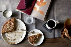 and a recipe for Rustic Rhubarb Cake, Jennifer Causey.