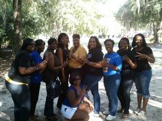 Celebrating with past members of Lambda Beta (undergraduate chapter at Valdosta State University) at VSU Homecoming