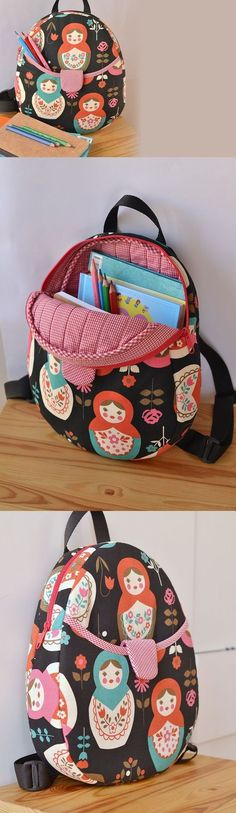 Harper Kids Backpack - pattern from http://ithinksew.com