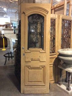 Superbe Shop Single Antique French Door From France With Elegant Iron Work From One  Of The The