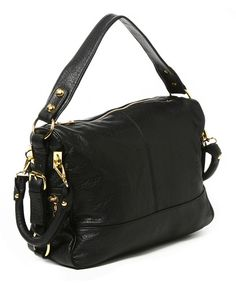 43c668d9a15 Take a look at this Amrita Singh Black Mira Crossbody Bag on zulily today!  Designer