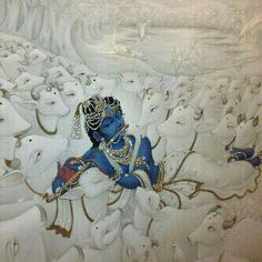 And Krishna calls all His cows by name,listen this to know how Aalvaru fell in love with,