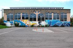 x x x © sanctobin Luxembourg, Spray Can Art, Graffiti, Fair Grounds, Street, Travel, Bridge, Stone, Viajes