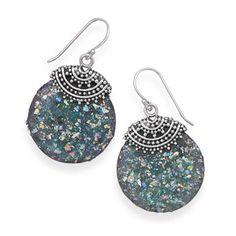 Roman Glass Beaded Top Earrings from Bonita Moda Boutique