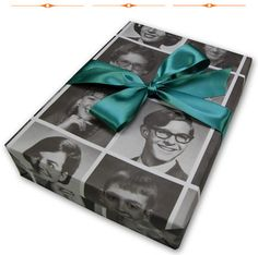 vintage yearbook gift wrap...wouldn't this be a sweet surprise for your friends from high school?