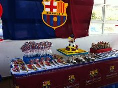 FC Barcelona party decoration for soccer fans!!! #barcelona #soccerparty