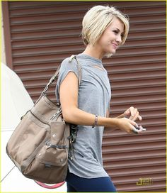 chelsea kane -side view of the cut.  Why do I always find cute short cuts when my hair is finally long?
