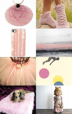 Pretty in Pink by  Violeta Warner from QVintage    --Pinned with TreasuryPin.com