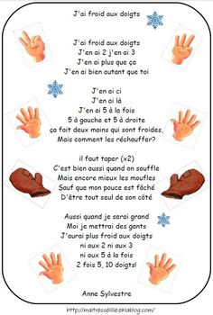 French winter nursery rhymes. Les comptines : Hiver, froid, banquise, bonhomme de neige