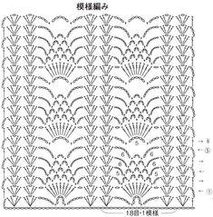 Motif Bikini Crochet, Crochet Scarf Diagram, Crochet Pouch, Crochet Cable, Granny Square Crochet Pattern, Crochet Stitches Patterns, Crochet Chart, Thread Crochet, Lace Knitting
