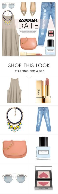 """""""Summer Date"""" by anilovic ❤ liked on Polyvore featuring River Island, Yves Saint Laurent, Chloe + Isabel, Bebe, Michael Kors, Marc Jacobs, Christian Dior and Burberry"""