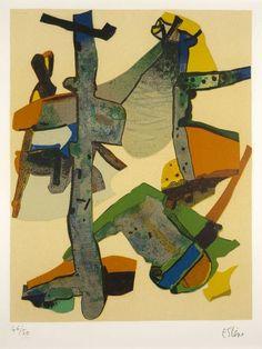 Maurice ESTÈVE (1904-2001)  Roussadou, 1974  Lithographie en couleurs