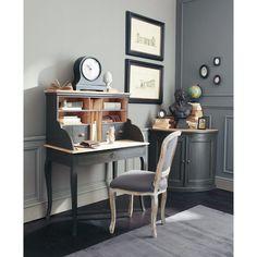 Fauteuil carrosse noir carrosse ballons noirs chaises et biblioth ques - Bureau industriel maison du monde ...