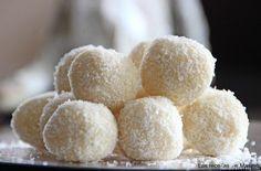 Trufas de chocolate blanco, coco y limón - MundoRecetas.com