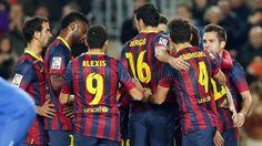 FC Barcelona, jugadores del equipo celebrando el gol. | FC Barcelona 2-1 | J.16  [14.13.12] FOTO: MIGUEL RUIZ - FCB