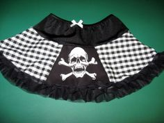 NEW Black white Nightmare B4 Xmas Striped Check Skirt Gothic Rock Gift Party
