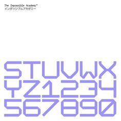 The Impossible Academy / Impossible Mono / 18/01/30/T-IA / Typeface / 2018