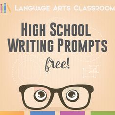 High School Writing Prompts - divided into expository, argumentative, and narrative prompts. Give students a head start with these FREE writing prompts.