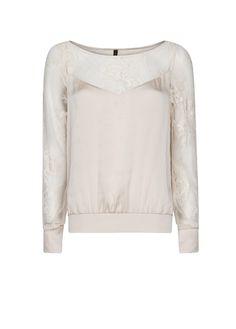 MANGO - Lace panel blouse  #Fashion #Trends #New #SS13