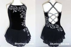 COMPETITION DRESS TS318 [TS318] - $159.95 :: Tina's Skate Wear - Custom Make-to-Fit Skating Dresss, Figure Skating Dresses, Baton Twirling/Dance Costumes.