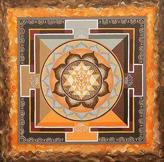 Sri Yantra Art Print by Maya B. All prints are professionally printed, packaged, and shipped within 3 - 4 business days. Mandala Design, Mandala Art, Chakra Art, Sacred Geometry Art, Sri Yantra, Shape Art, Thing 1, Ancient Aliens, Border Design