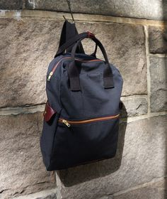 Cosmo mochila en lona negro tela cruzada / hombres por HangaBag