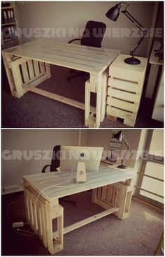 Pallets office #Ecodesign, #Pallets