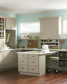 Organization to drool after! {Seal Harbor Cabinets: Craft Room Creativity by Martha Stewart}