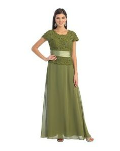 ac5209d083246 Olive green jade plus size mother of the bride dresses with sleeves 2x