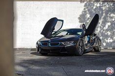 A BMW i8 Gets A Set Of HRE P101 Wheels in Satin Charcoal - http://www.bmwblog.com/2017/01/05/a-bmw-i8-gets-a-set-of-hre-p101-wheels-in-satin-charcoal/