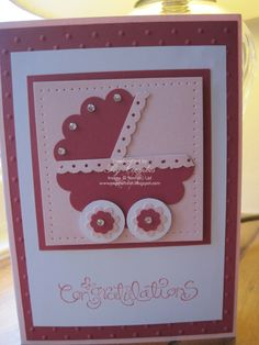 stampin' up cards | ... Order Stampin Up HERE: Baby Girl card with Stampin' Up! scallop circle