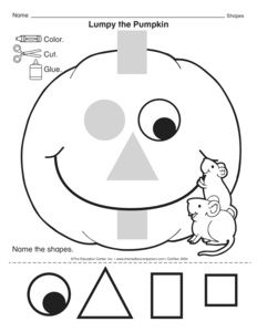 Pumpkin Worksheets for Preschoolers Lumpy the Pumpkin Lesson Plans the Mailbox Fall Preschool, Preschool Lessons, Preschool Worksheets, Preschool Classroom, Preschool Learning, In Kindergarten, Teaching, Preschool Halloween Lesson Plans, Pumpkin Preschool Crafts