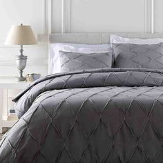 Aiken Bedding ~ Gray/Metallic/Silver