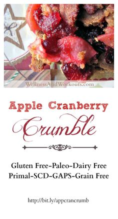Apple Cranberry Crumble - SCD