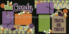 I Want Candy Scrapbook Page Kit