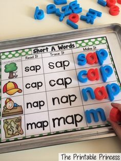 Write and build word families. Great practice for little learners. #tpt