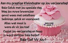Happy Birthday Wishes Cards, Birthdays, Afrikaans, House, Ideas, Happy Birthday Greeting Cards, Anniversaries, Home, Birthday