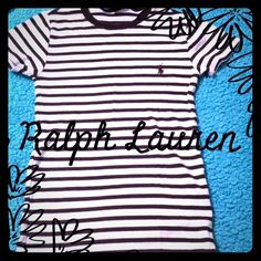 Ralph Lauren sport tshirt Brown and cream striped Ralph Lauren sport tee size XS 100% cotton. 15% discount on bundles. No PayPal or trades. Ralph Lauren Tops