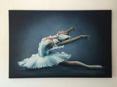 Ballerina Airbrush Painting on Canvas