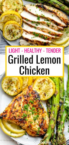 Grilled lemon chicken is a tender, juicy and savory grilling recipe that is perfect for summer. It's light, healthy and beaming with Mediterranean flavor! |Grilled Recipes | Low Carb | Grilled Chicken | Healthy Chicken Recipes | Mediterranean Chicken #grilledchicken #grilledlemonchicken #chickenrecipes #summerrecipes #summertime #feelgoodfoodie...