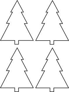 Molde de Árvore de Natal em papel para Imprimir - Enfeites de Natal