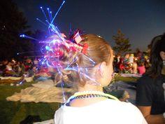 Messy Glow Bun...so cute and patriotic