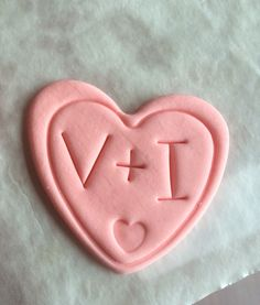 Engagement/Valentine toppers