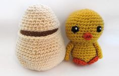 Spring Chicken with Egg Pattern  Spring can't come soon enough! This little chick-a-dee is ready for spring and just in time for Easter. He comes with an egg that he can stuff right in to. I've noticed that many people hate embroidering eyes and other features. Many would rather use safety eyes and noses. Several folks who have tested my patterns have mentioned this, and I totally understand. You can always use safety eyes for all my patterns, but for some things I like creating an e